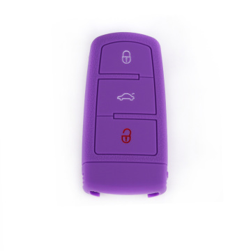 VW Remote 3 կոճակները Silicone Car Key Case
