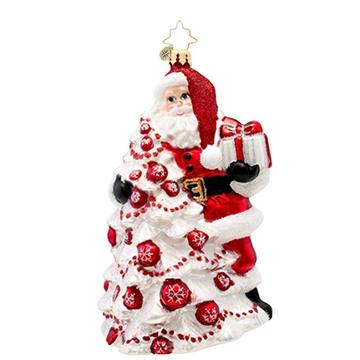 Santa Claus Customized Shaped Glass Christmas Blown Ornament