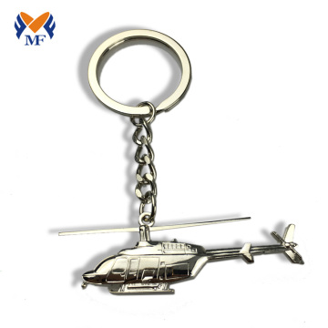 Custom make metal airplane keychain