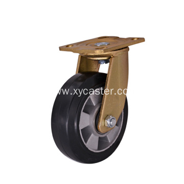 6 Inch Black Rubber Caster