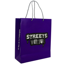 Professional for Cheap Paper Shopping Bags High Quality Custom Logo Embossed Paper Bag export to Germany Supplier