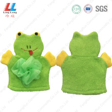 Green animal bath gloves shower item