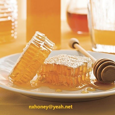Natural raw acacia honey in bulk package