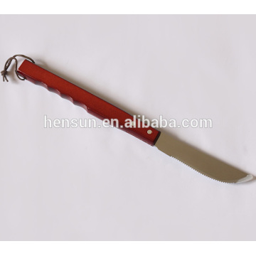Quality Wooden Handle Beaf BBQ Grill Meat Knife