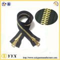 Golden 2 way open end metal zipper no.3