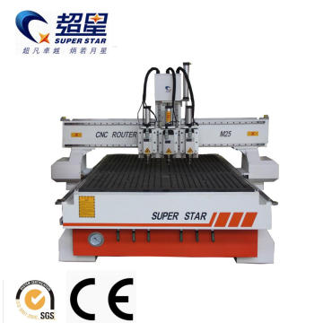 Multi Heads Machine M25 Wooding Engraving Machine