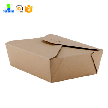 Kraft paper fast food box
