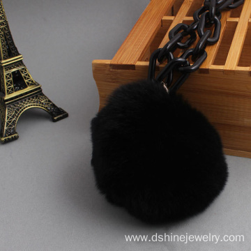Fast Delivery for Fur Ball Necklace, Black Fur Ball Necklace, Korean Style Fur Ball Necklace leading supplier in China Handmade POM POM Decorative Necklaces Simple Choker Necklace export to India Factory