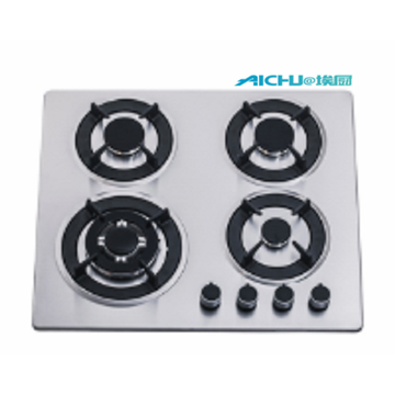 4 Burners Steel Gas And Electric Stove