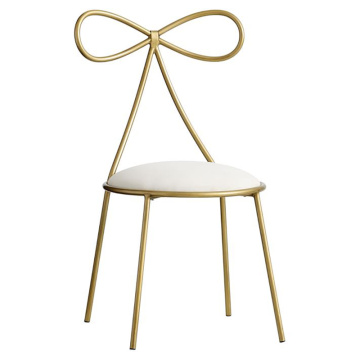 Nordic gold color stainless steel dressing room chair