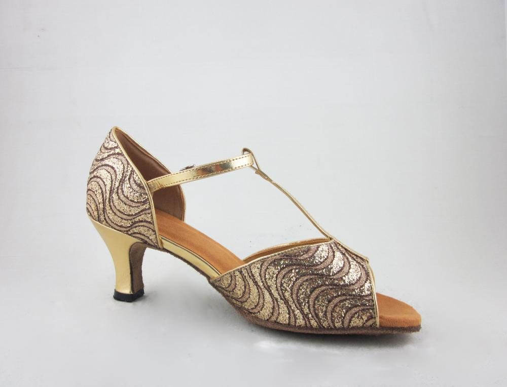 Girls Gold Latin Shoes