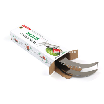 Multi purpose stainless steel watermelon slicer