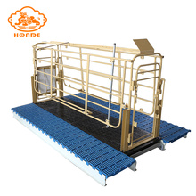 China for Solid Rod Farrowing Stall For Pig Farm Cheap steel popular pig crates from factory export to Tonga Factory