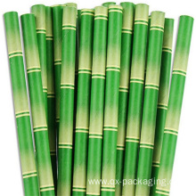 Green and white striped straws for sale