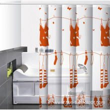 Waterproof Bathroom printed Shower Curtain U Pockets