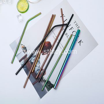 Food Grade 304 Stainless Steel Colored Metal Straw