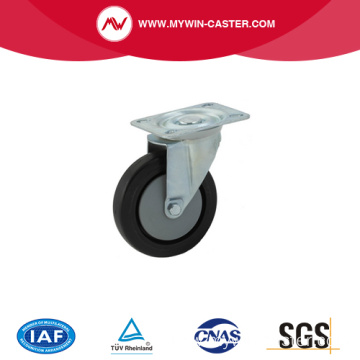high quality black swivel 150mm elastic rubber caster