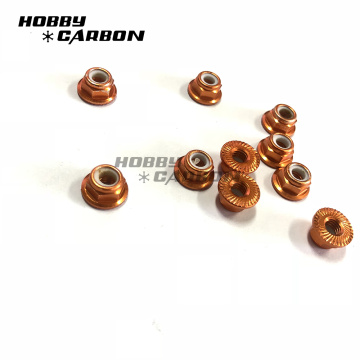 I-M3 Red Aluminium Hex Nylon Lock Nuts