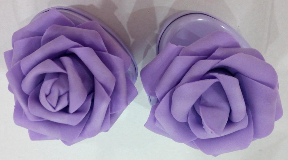 Purple Candy Tin box with Flower Decoration