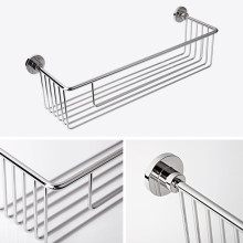 SUS304 bathroom wire mesh shelf bathroom shower basket