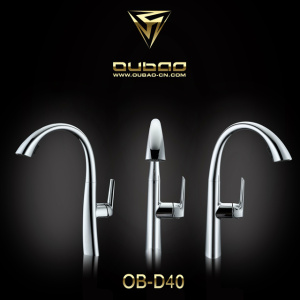 Elegant Polished Chrome Pull Out Kitchen Faucet Tap