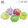 Cute animal mesh sponge united ball