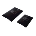 Printing Logo Black Matte Paper Pillow Boxes