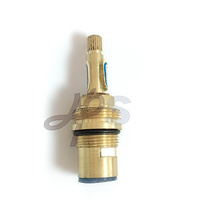 Brass valve cartridge for cold or hot water