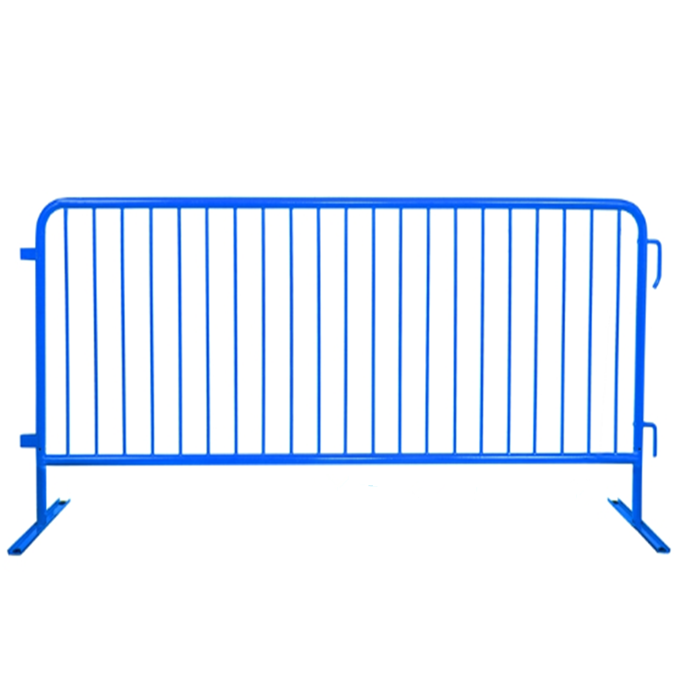 8ft heavy duty steel barricades with flat bases