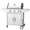 Three Burner Gas BBQ Grill With Side Burner