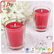 colorful wax glass jar candle with fragrance