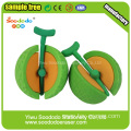 3D Round Hami Melon Shaped Eraser,Mini Eraser stationery