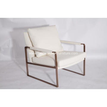 Modern Zara Stainless Steel Lounge Chair