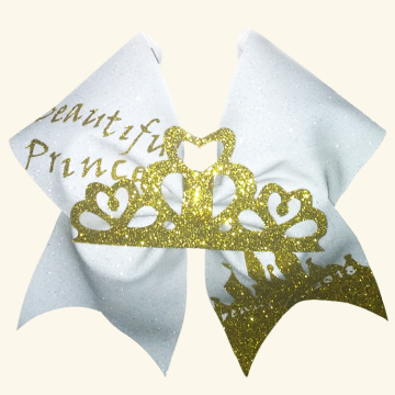 Good Quality for Cheerleading Hair Bows Eye Catching Big Competition cheer bows export to Yugoslavia Exporter