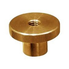 Custom Brass Knurled Thumb Threaded Nut