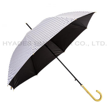 Windproof Lightweight Checked Auto Open Straight Umbrella