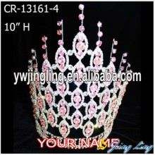 Wholesale Pink Rhinestone Large Pageant Crowns For Sale