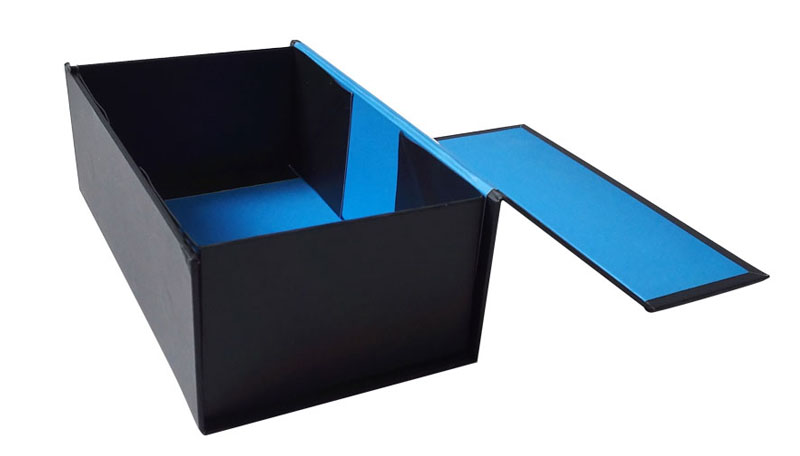 Folding Black Cardboard Custom Cosmetic Packaging Box