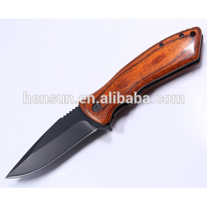 Factory provide nice price for wooden handle pocket knife Details Fast Opening Pakkawood Handle Folding Knife Pocket Knife supply to United States Factories