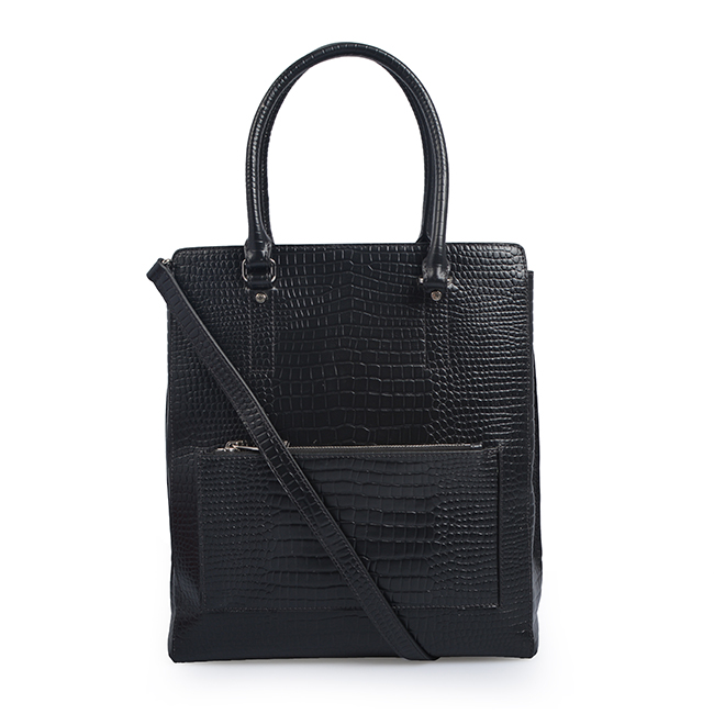 Premium Genuine Crocodile Leather Office Lady Tote Bag