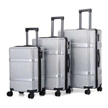 Different size luggage set sighting trip fashion trolley