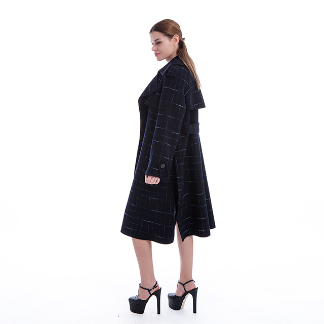 Cashmere overcoat navy blue