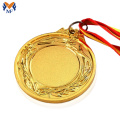 Gold blank medal medals with free engraving