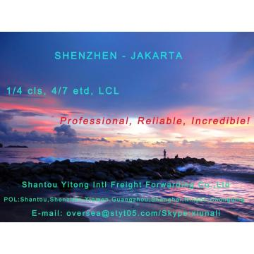 LCL Consolidation Shipping from Shenzhen to Jakarta