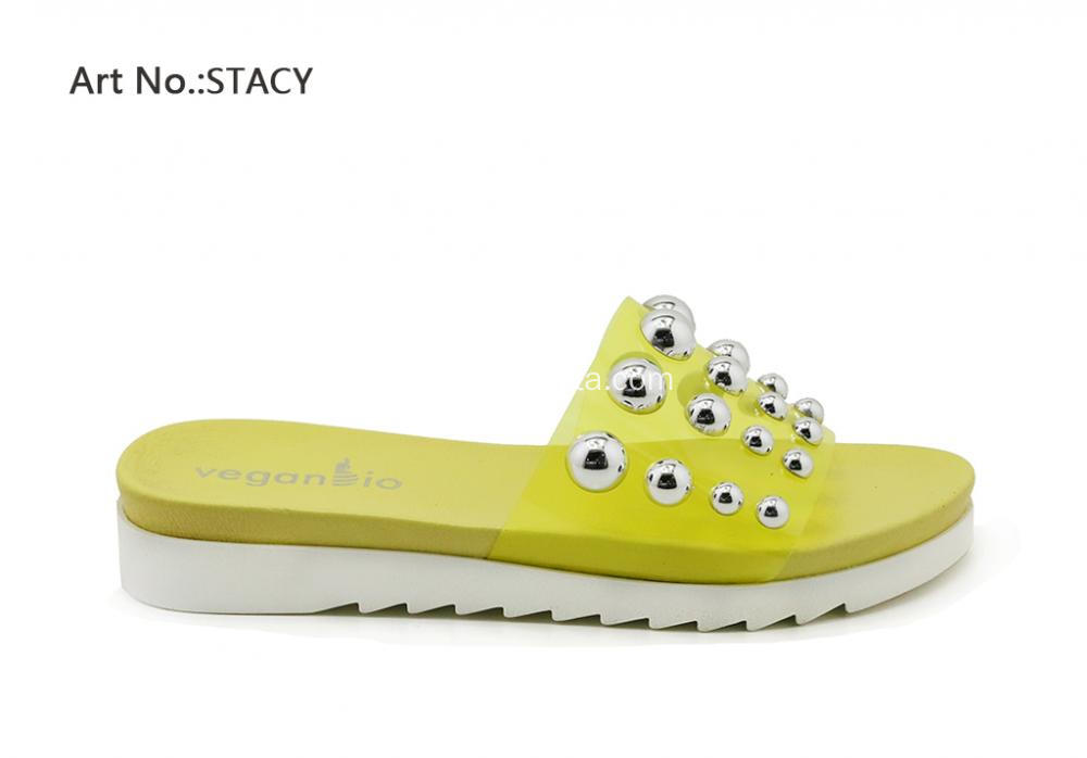 Lucite with Studs for Ladies Slippers
