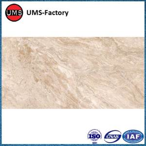 Large format marble look porcelain tiles