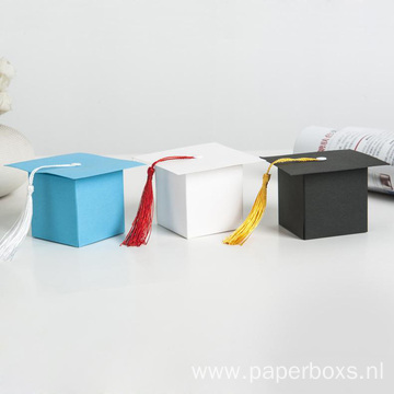 New Party Favors Doctoral Cap Design Paper Box