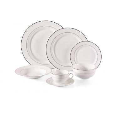 Fine bone with gold rim dinnerware set plates