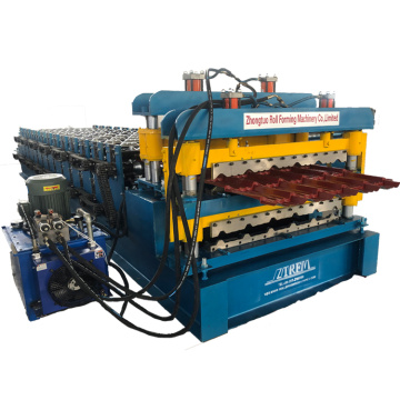 Double layer machine of glazed and IBR tile