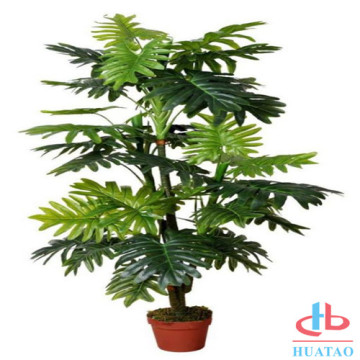 Decorative indoor and outdoor green plastic plant